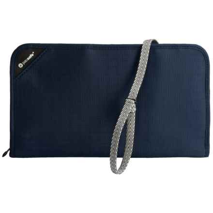 Pacsafe Anti-Theft RFIDsafe V200 Travel Organizer in Navy Blue - Closeouts