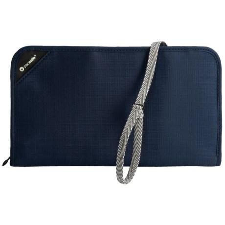 Pacsafe Anti-Theft RFIDsafe V200 Travel Organizer in Navy Blue