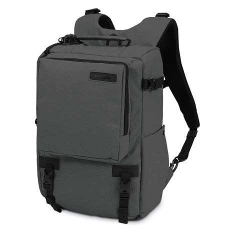 "Pacsafe Camsafe® Z16 Anti-Theft Camera and 13"" Laptop Backpack in Charcoal"