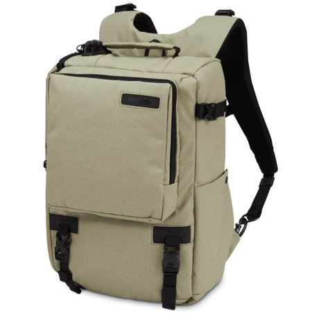 "Pacsafe Camsafe® Z16 Anti-Theft Camera and 13"" Laptop Backpack in Slate Green"