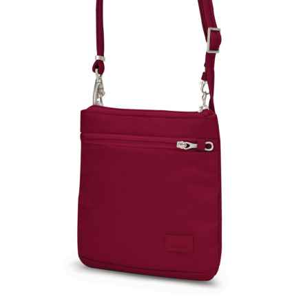 Pacsafe Citysafe® CS50 Crossbody Purse in Cranberry - Closeouts