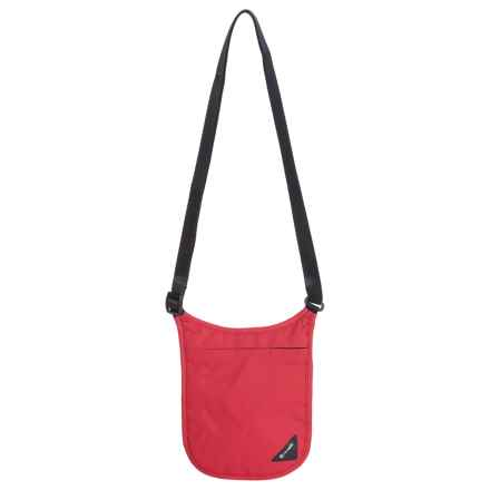 Pacsafe Coversafe V75 RFIDsafe Neck Pouch in Chili/Black - Closeouts