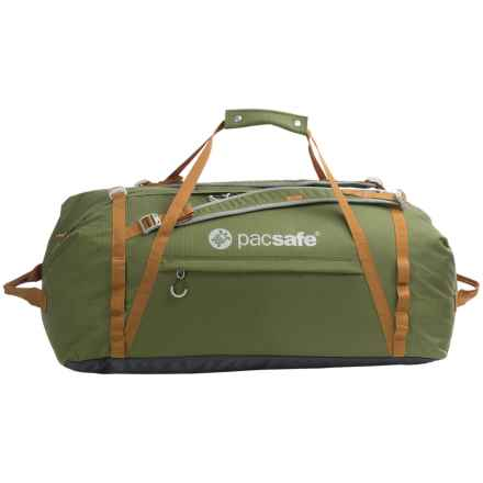 Pacsafe Duffelsafe AT 80 Anti-Theft Adventure Duffel Bag in Olive/Khaki - Closeouts