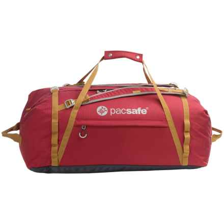 Pacsafe Duffelsafe AT100 Anti-Theft Adventure Duffel Bag in Chili/Khaki - Closeouts
