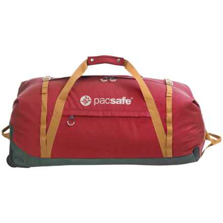 Pacsafe Duffelsafe AT120 Anti-Theft Rolling Adventure Duffel Bag in Chili/Khaki - Closeouts
