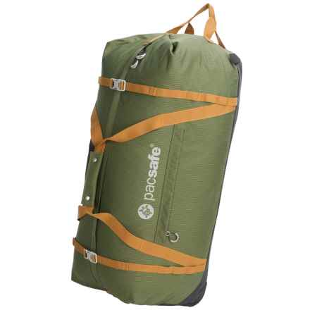 Pacsafe Duffelsafe AT120 Anti-Theft Rolling Adventure Duffel Bag in Olive/Khaki - Closeouts