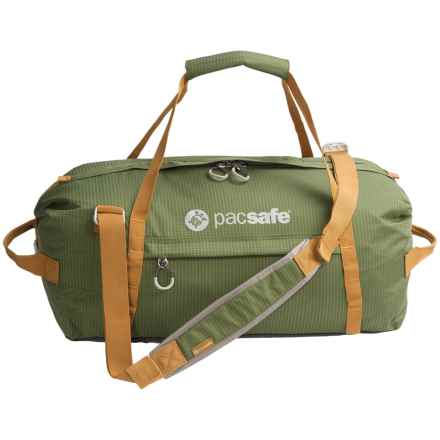 Pacsafe Duffelsafe AT45 Anti-Theft Carry-On Adventure Duffel Bag in Olive/Khaki - Closeouts