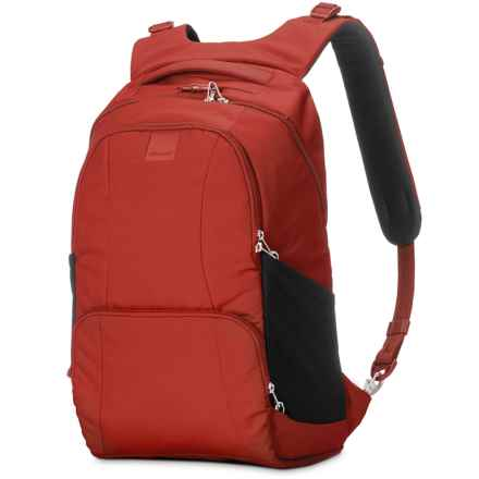 Pacsafe Metrosafe LS450 Anti-Theft Backpack - 25L in Vintage Red - Closeouts