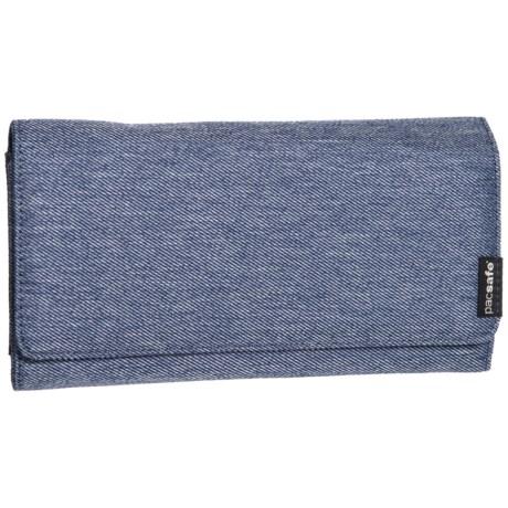 Pacsafe RFID-Safe LX200 Clutch Wallet in Denim