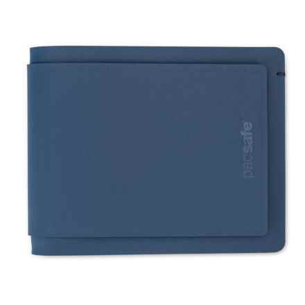 9aab20018aa Pacsafe RFID-Safe TEC Bifold Plus Wallet in Navy - Closeouts