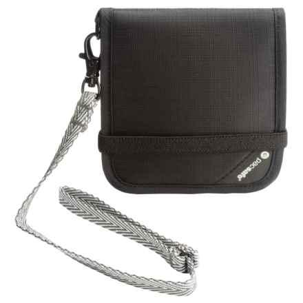 Pacsafe RFIDsafe V-100 Anti-Theft Bi-Fold Wallet in Black - Closeouts