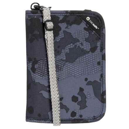 Pacsafe RFIDsafe V150 Anti-Theft Compact Organizer in Grey Camo - Closeouts