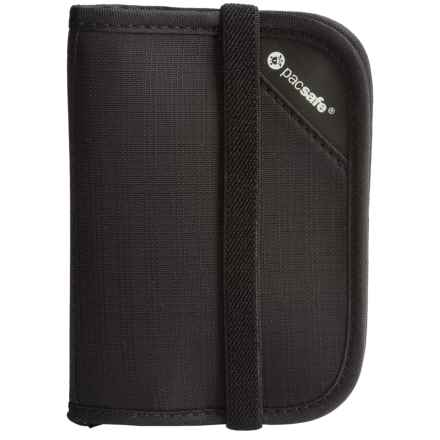 Pacsafe RFIDsafe V50 Anti-Theft Compact Wallet in Black - Closeouts