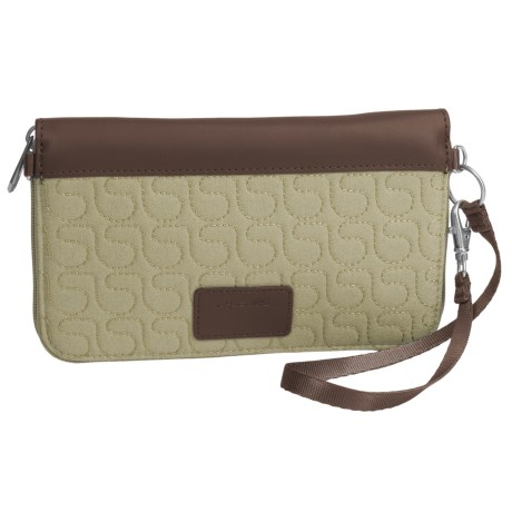 Pacsafe RFIDsafe W200 Blocking Travel Wallet in Rosemary