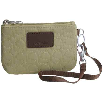 Pacsafe RFIDsafe W50 Anti-Theft Coin and Card Purse in Rosemary - Closeouts