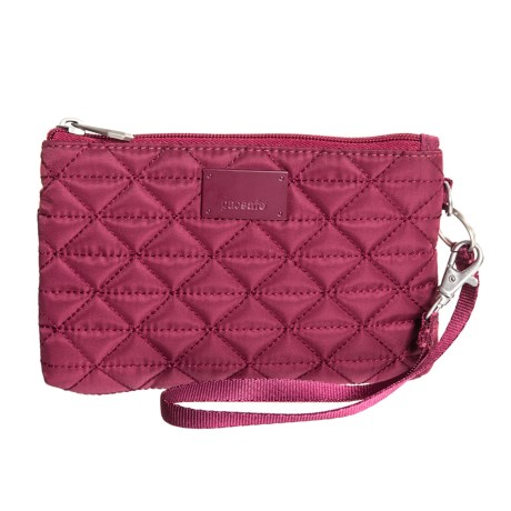 Pacsafe RFIDsafe W75 Blocking Pouch Wallet in Cranberry