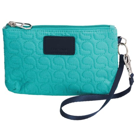 Pacsafe RFIDsafe W75 Blocking Pouch Wallet in Lagoon