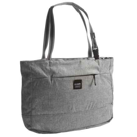 Pacsafe Slingsafe® LX250 Anti-Theft Tote Bag in Tweed Grey - Closeouts