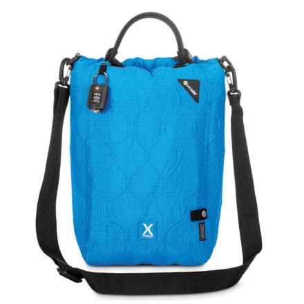 "Pacsafe Travelsafe X15 Anti-Theft Portable Safe Bag - 15x9.4x6.3"" in Hawaiian Blue - Closeouts"