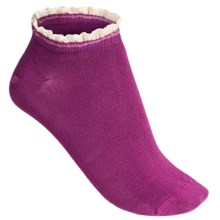 PACT Anklet Socks - Organic Cotton, Ankle (For Women) in Autumn Orchid - Closeouts
