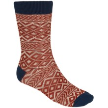PACT Crew Socks - Organic Cotton (For Men) in Lighthouse Patchwork - Closeouts