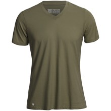 Pact Essentials V-Neck T-Shirt - Organic Cotton-Modal, Short Sleeve (For Men) in Olive - Closeouts