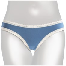 Pact Panties - Bikini Briefs, Stretch Organic Cotton (For Women) in Denim - Closeouts