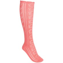 PACT Pointelle Knee Socks - Organic Cotton, Over-the-Calf (For Women) in Apricot - Closeouts
