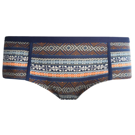 PACT Share the Love Panties - Boy Shorts, Organic Cotton (For Women) in Fair Isle