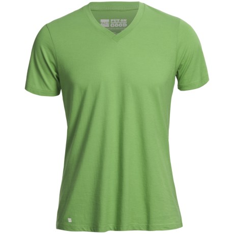 Pact Share The Love T-Shirt - Organic Cotton-Modal, Short Sleeve (For Men) in Bright Green