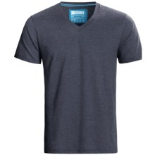 Pact V-Neck T-Shirt - Organic Cotton, Short Sleeve (For Men) in Navy Heather - Closeouts