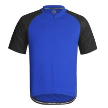 Pactimo 5280 Cycling Jersey - Zip Neck, Short Sleeve (For Men) in Blue/Black - Closeouts