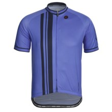 Pactimo Ascent Cycling Jersey - Full-Zip, Short Sleeve (For Men) in Vail Blue/Midnight - Closeouts