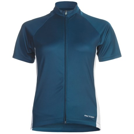 Pactimo Ascent Cycling Jersey - Full Zip, Short Sleeve (For Women) in Blue Nights/Antique White