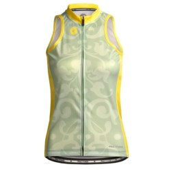 Pactimo Continental Cycle Jersey - Sleeveless (For Women) in Bok Choy/Primrose/Comfrey Green Baroque Combo