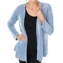 Paddi Murphy Boucle Cardigan Sweater - Open Front (For Women) in Chambray - Closeouts