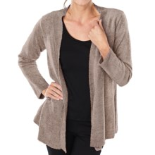 Paddi Murphy Boucle Cardigan Sweater - Open Front (For Women) in Taupe - Closeouts