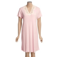 Paddi Murphy Claire Nightgown - Short Sleeve (For Women) in Pink - Closeouts
