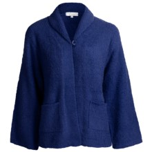 Paddi Murphy Marshmallow Soft Bed Jacket (For Women) in Navy - Closeouts