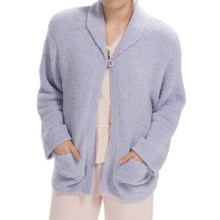 Paddi Murphy Marshmallow Soft Cardigan Sweater (For Women) in Lilac - Closeouts