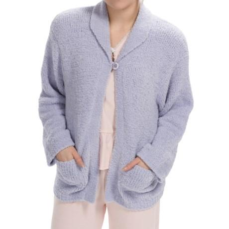 Paddi Murphy Marshmallow Soft Cardigan Sweater (For Women) in Lilac
