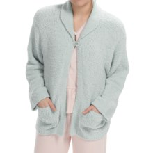 Paddi Murphy Marshmallow Soft Cardigan Sweater (For Women) in Mint - Closeouts