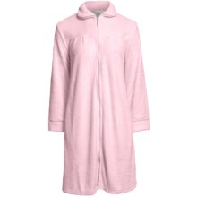 Paddi Murphy Short Robe - Front Zip, Peter Pan Collar (For Women) in Pink - Closeouts