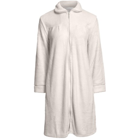 Paddi Murphy Short Robe - Front Zip, Peter Pan Collar (For Women) in White