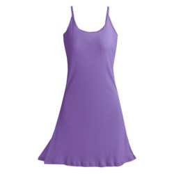 Paddi Murphy Softies Chloe Ribbed Chemise (For Women) in Purple