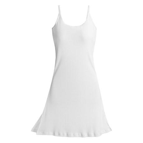 Paddi Murphy Softies Chloe Ribbed Chemise (For Women) in White
