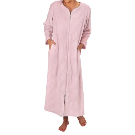Paddi Murphy Softies Cloud Fleece Zip Robe Sweetheart Neck, Long Sleeve (For Women)
