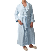 Paddi Murphy Softies Diamond Plush Fleece Robe - Long Sleeve (For Women) in Blue - Closeouts