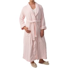 Paddi Murphy Softies Diamond Plush Fleece Robe - Long Sleeve (For Women) in Pink - Closeouts