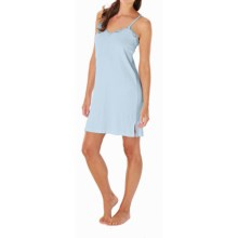 Paddi Murphy Softies Eileen Chemise - V-Neck, Spaghetti Straps (For Women) in Blue - Closeouts